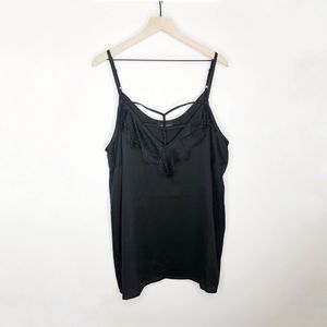 ✨ Lane Bryant Caged Silky Lace Cami sz 24